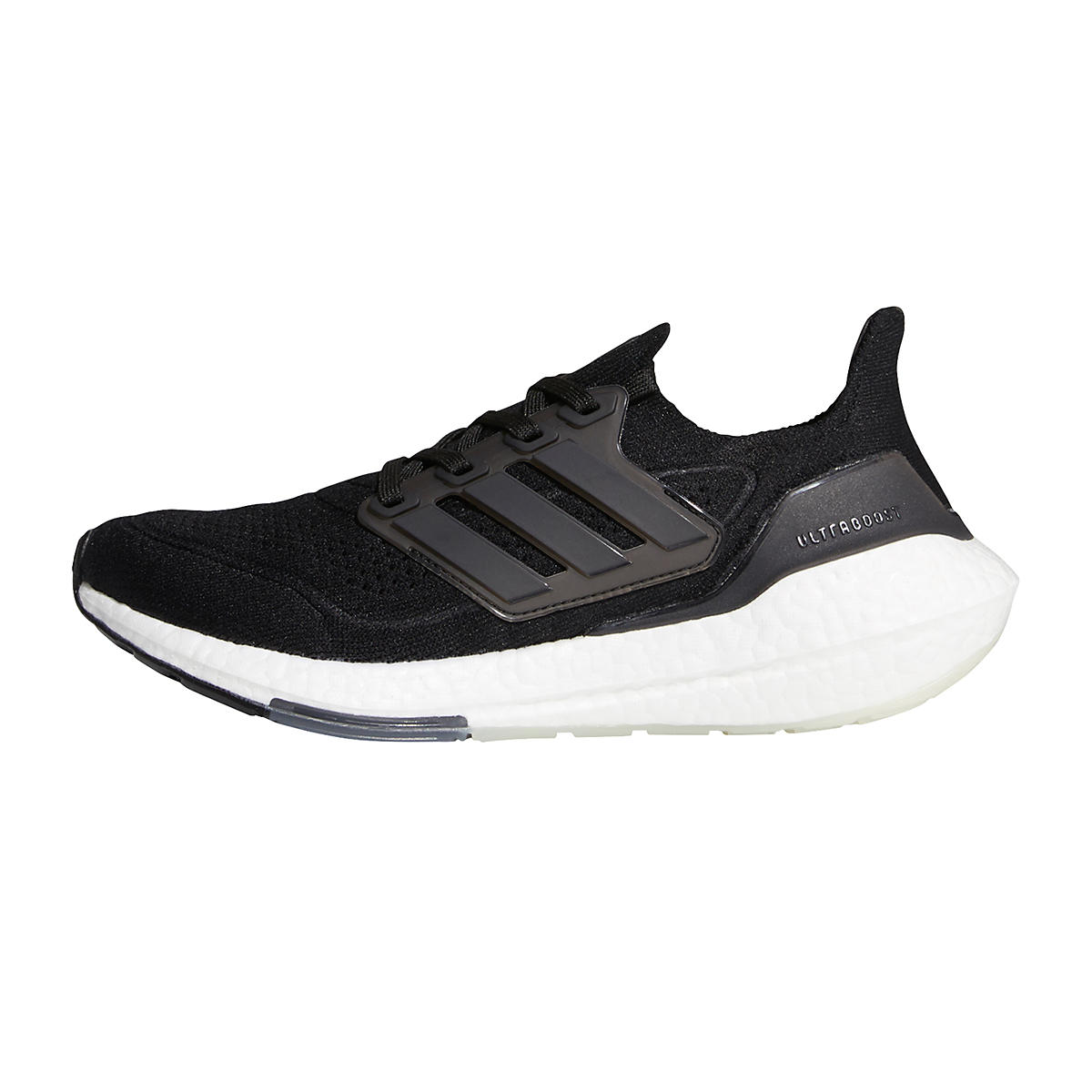 Women's Adidas Ultraboost 21 Running Shoe - Color: Core Black/Grey - Size: 5 - Width: Regular, Core Black/Grey, large, image 2