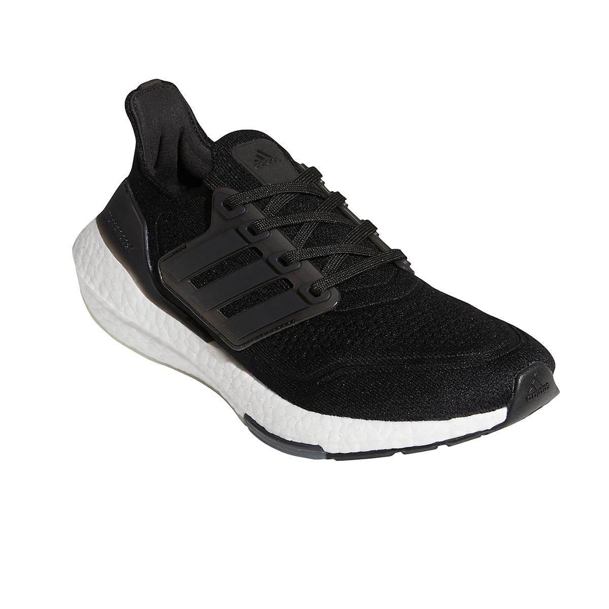 Women's Adidas Ultraboost 21 Running Shoe - Color: Core Black/Grey - Size: 5 - Width: Regular, Core Black/Grey, large, image 3
