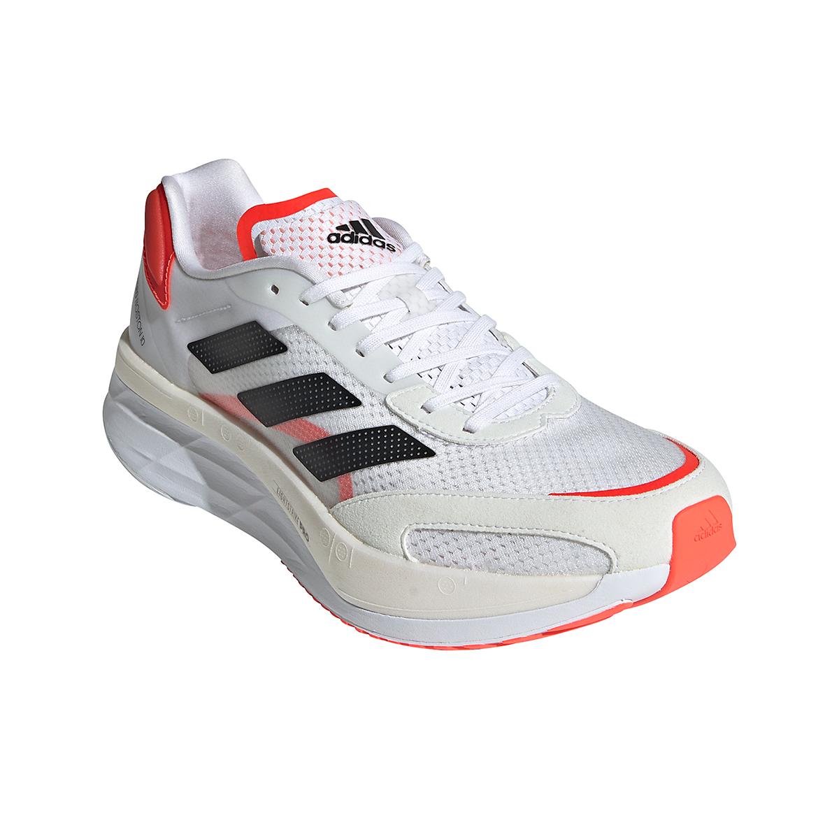 Men's Adidas Adizero Boston 10 Running Shoe - Color: Black/White/Solar Red - Size: 7 - Width: Regular, Black/White/Solar Red, large, image 3