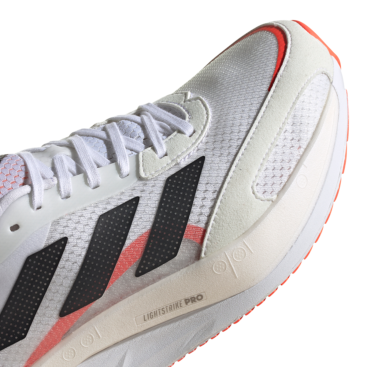 Men's Adidas Adizero Boston 10 Running Shoe - Color: Black/White/Solar Red - Size: 7 - Width: Regular, Black/White/Solar Red, large, image 5