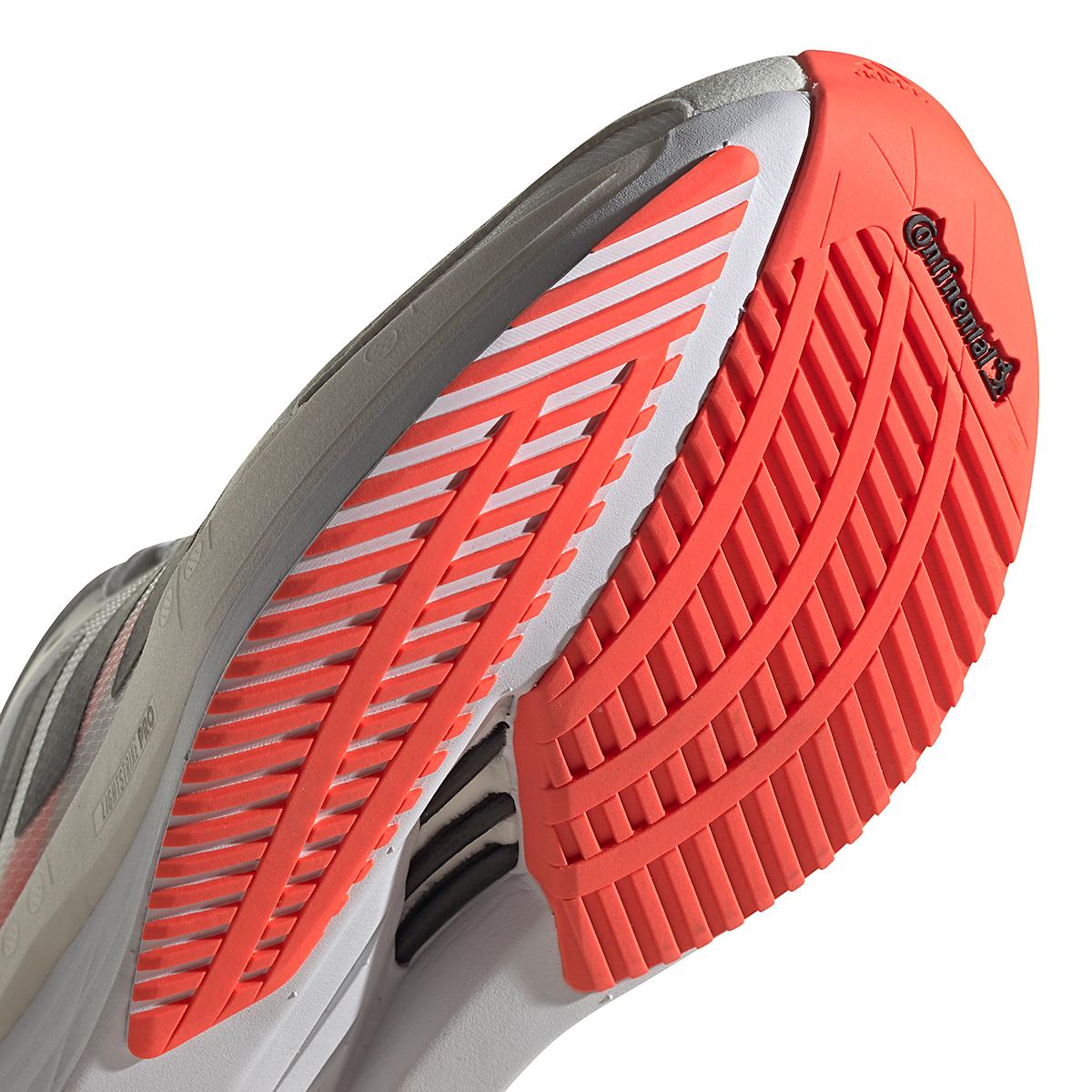 Men's Adidas Adizero Boston 10 Running Shoe - Color: Black/White/Solar Red - Size: 7 - Width: Regular, Black/White/Solar Red, large, image 6