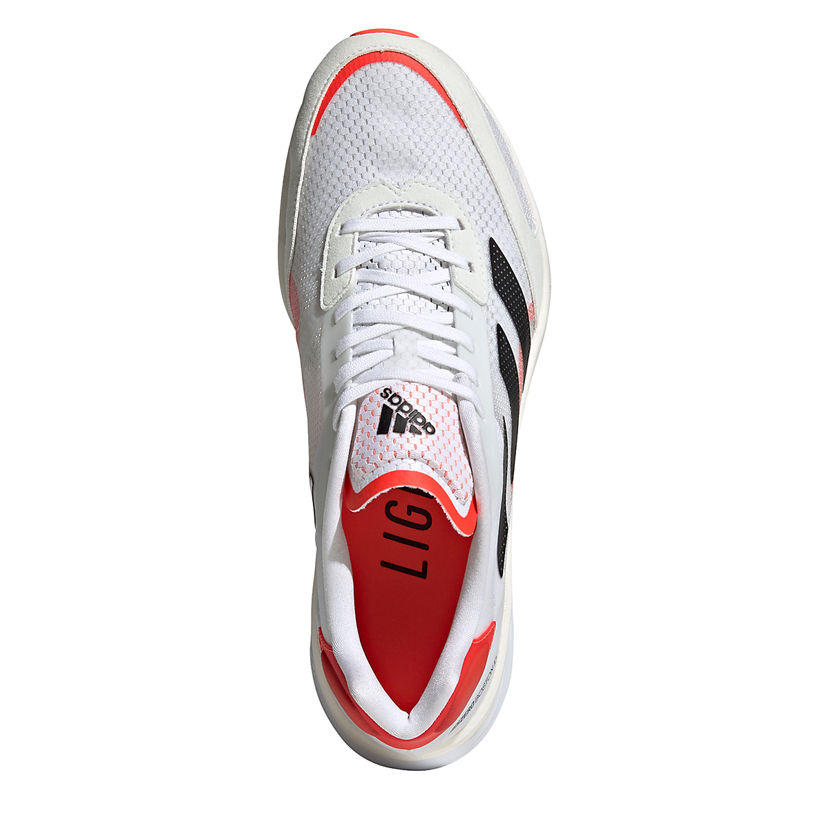 Men's Adidas Adizero Boston 10 Running Shoe - Color: Black/White/Solar Red - Size: 7 - Width: Regular, Black/White/Solar Red, large, image 7