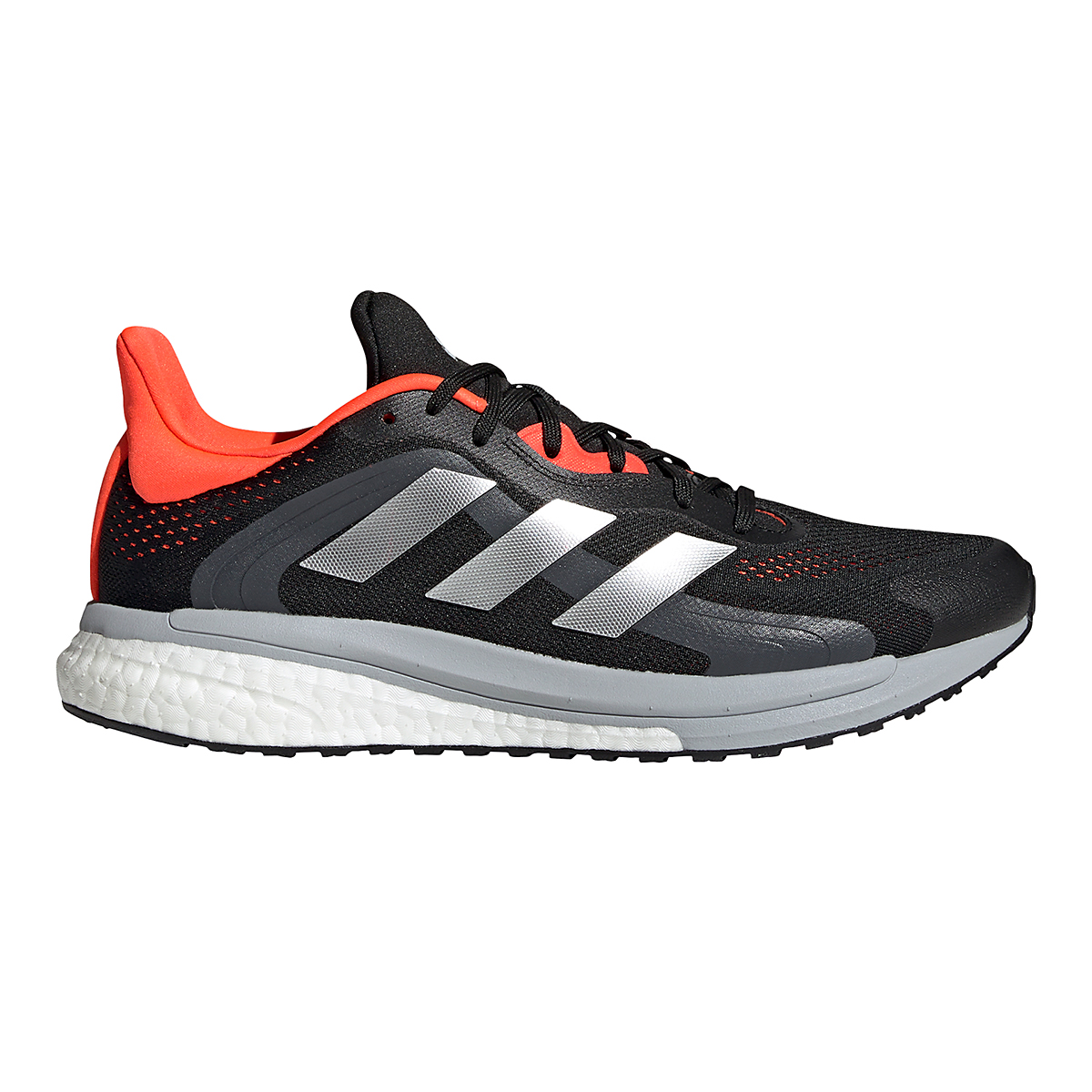 Men's Adidas Solar Glide 4 ST Running Shoe - Color: Core Black/Grey/Solar Red - Size: 6.5 - Width: Regular, Core Black/Grey/Solar Red, large, image 1