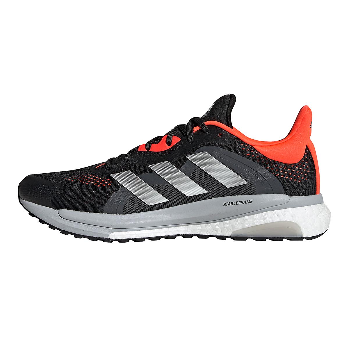 Men's Adidas Solar Glide 4 ST Running Shoe - Color: Core Black/Grey/Solar Red - Size: 6.5 - Width: Regular, Core Black/Grey/Solar Red, large, image 2