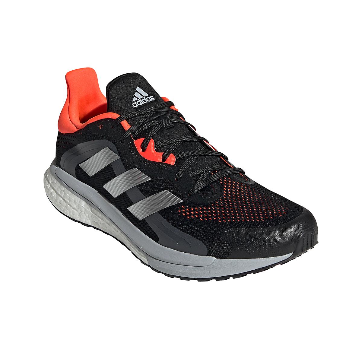 Men's Adidas Solar Glide 4 ST Running Shoe - Color: Core Black/Grey/Solar Red - Size: 6.5 - Width: Regular, Core Black/Grey/Solar Red, large, image 3