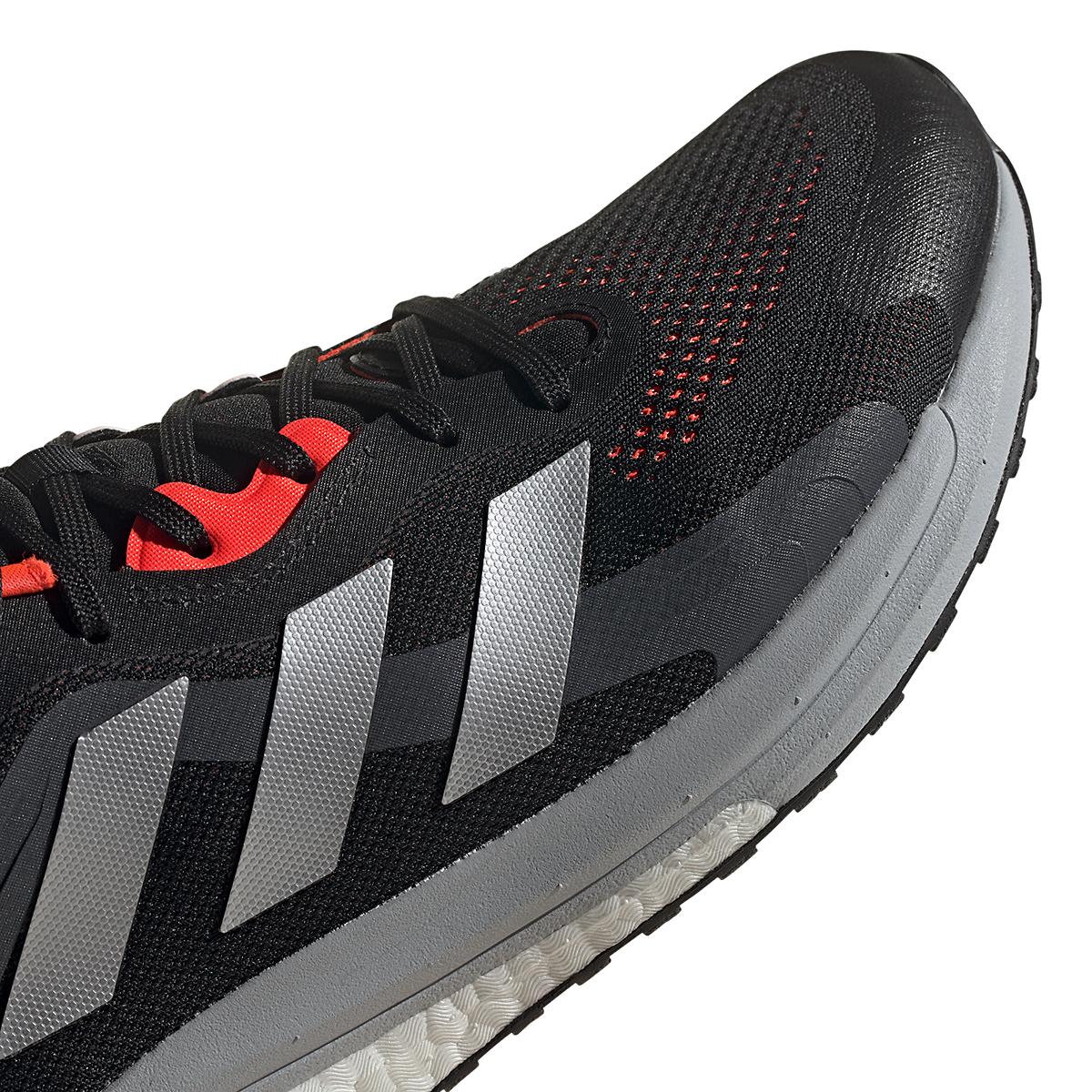 Men's Adidas Solar Glide 4 ST Running Shoe - Color: Core Black/Grey/Solar Red - Size: 6.5 - Width: Regular, Core Black/Grey/Solar Red, large, image 4