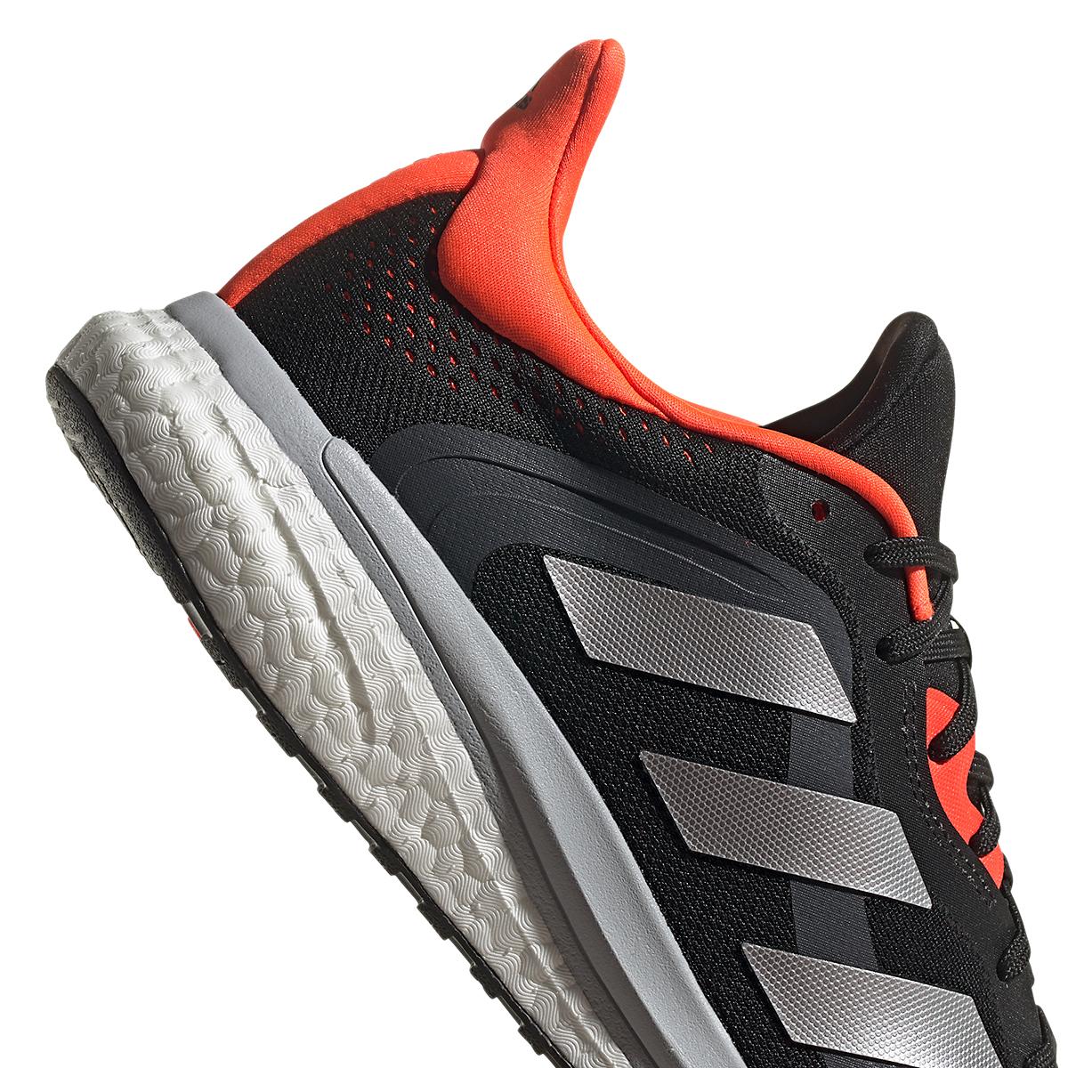 Men's Adidas Solar Glide 4 ST Running Shoe - Color: Core Black/Grey/Solar Red - Size: 6.5 - Width: Regular, Core Black/Grey/Solar Red, large, image 5