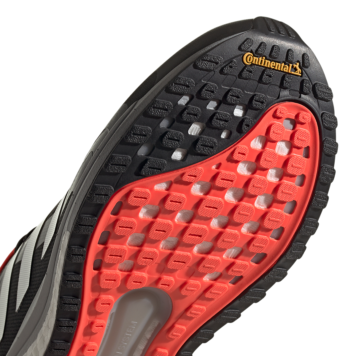 Men's Adidas Solar Glide 4 ST Running Shoe - Color: Core Black/Grey/Solar Red - Size: 6.5 - Width: Regular, Core Black/Grey/Solar Red, large, image 6