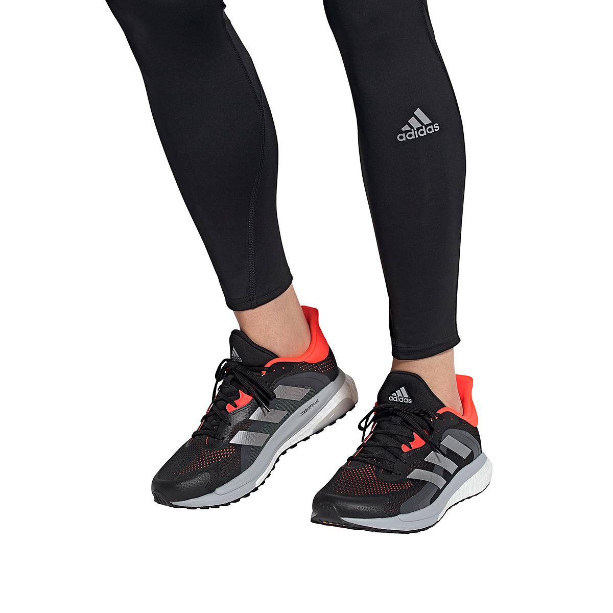 Men's Adidas Solar Glide 4 ST Running Shoe - Color: Core Black/Grey/Solar Red - Size: 6.5 - Width: Regular, Core Black/Grey/Solar Red, large, image 7