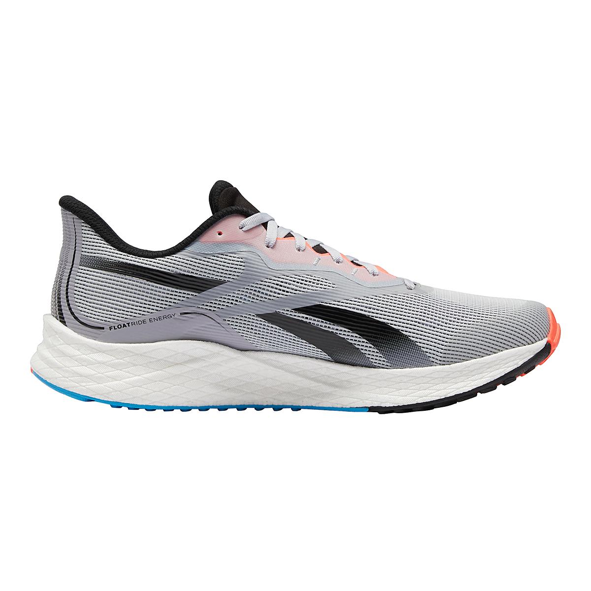 Men's Reebok Floatride Energy 3.0 Running Shoe - Color: Cold Grey/Core Black/Orange Flare - Size: 7 - Width: Regular, Cold Grey/Core Black/Orange Flare, large, image 1
