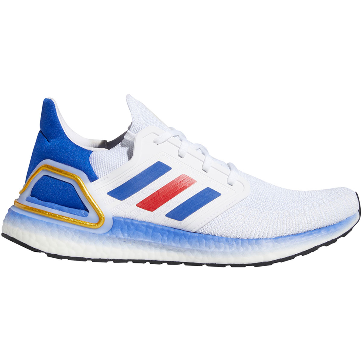 Men's Adidas Ultraboost 20 Running Shoe - Color: White/Team Usa - Size: 6.5 - Width: Regular, White/Team USA, large, image 1