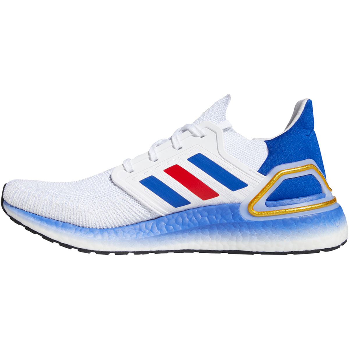 Men's Adidas Ultraboost 20 Running Shoe - Color: White/Team Usa - Size: 6.5 - Width: Regular, White/Team USA, large, image 2