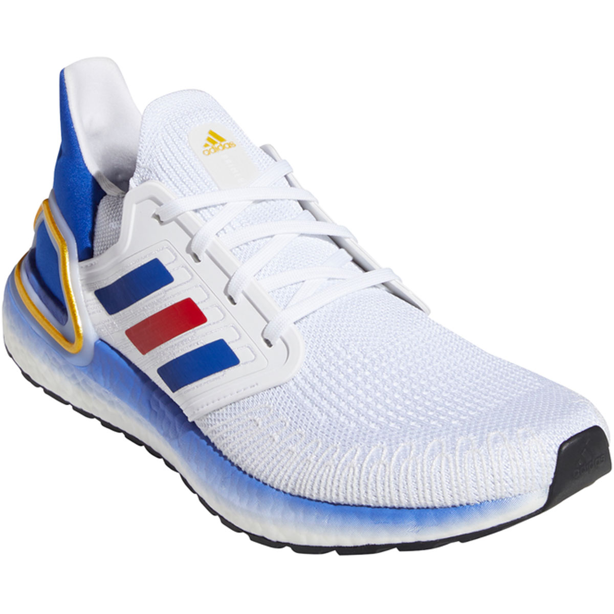 Men's Adidas Ultraboost 20 Running Shoe - Color: White/Team Usa - Size: 6.5 - Width: Regular, White/Team USA, large, image 3
