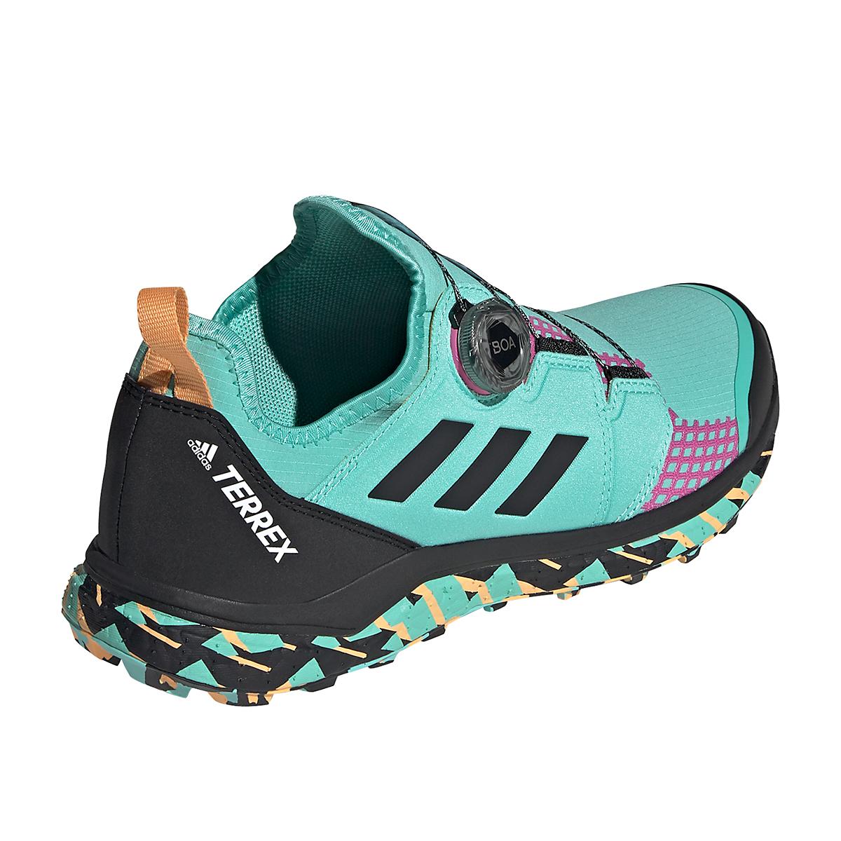 Men's Adidas Terrex Agravic BOA Trail Running Shoe - Color: Acid Mint/Core Black/Screaming Pink - Size: 6 - Width: Regular, Acid Mint/Core Black/Screaming Pink, large, image 5