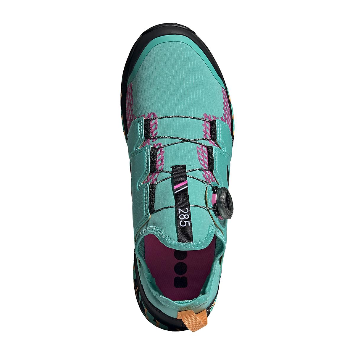 Men's Adidas Terrex Agravic BOA Trail Running Shoe - Color: Acid Mint/Core Black/Screaming Pink - Size: 6 - Width: Regular, Acid Mint/Core Black/Screaming Pink, large, image 6