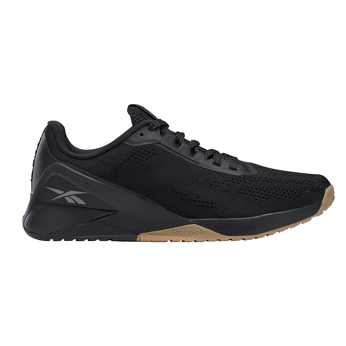 Men's Reebok Nano X1 Training Shoe - Color: Black/Night Black/Rubber Gum - Size: 6.5 - Width: Regular, Black/Night Black/Rubber Gum, large, image 1