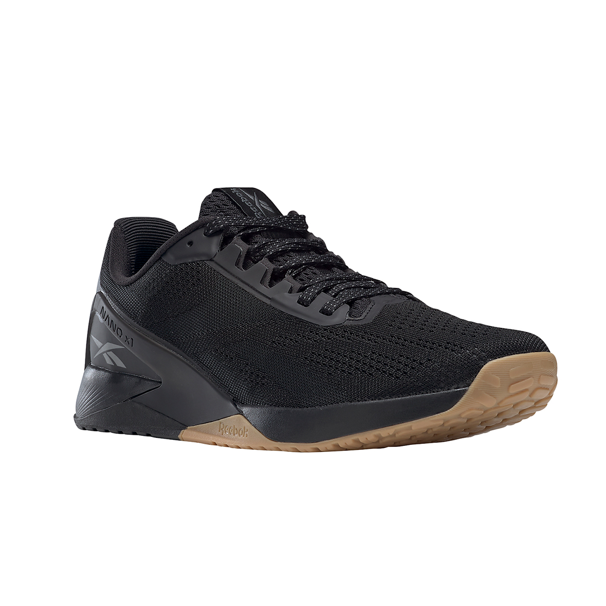 Men's Reebok Nano X1 Training Shoe - Color: Black/Night Black/Rubber Gum - Size: 6.5 - Width: Regular, Black/Night Black/Rubber Gum, large, image 2
