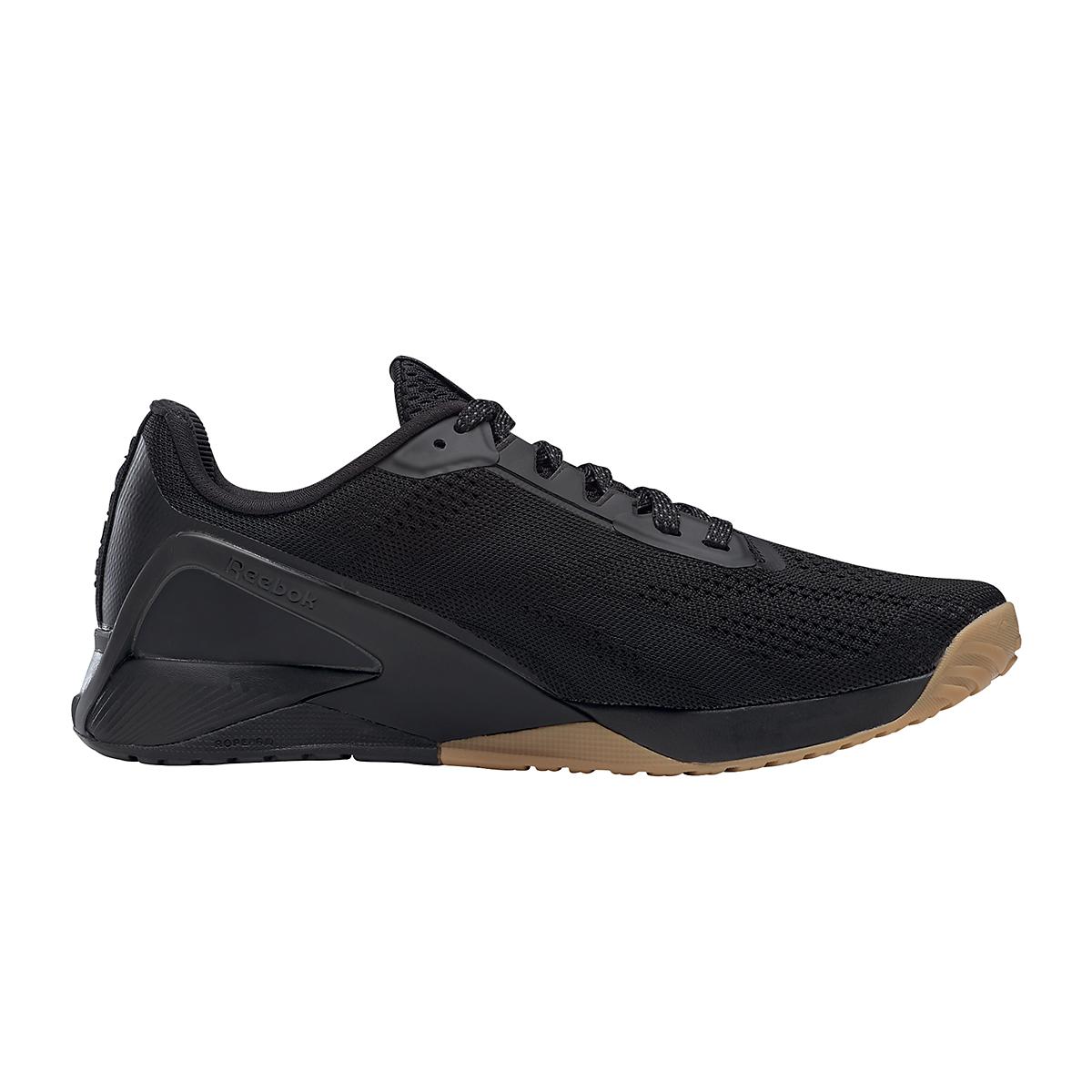 Men's Reebok Nano X1 Training Shoe - Color: Black/Night Black/Rubber Gum - Size: 6.5 - Width: Regular, Black/Night Black/Rubber Gum, large, image 5