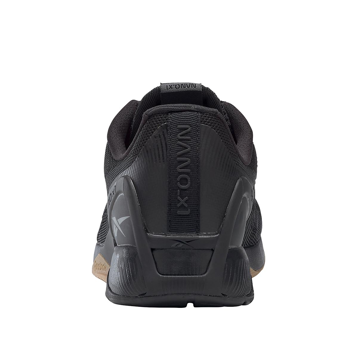 Men's Reebok Nano X1 Training Shoe - Color: Black/Night Black/Rubber Gum - Size: 6.5 - Width: Regular, Black/Night Black/Rubber Gum, large, image 6