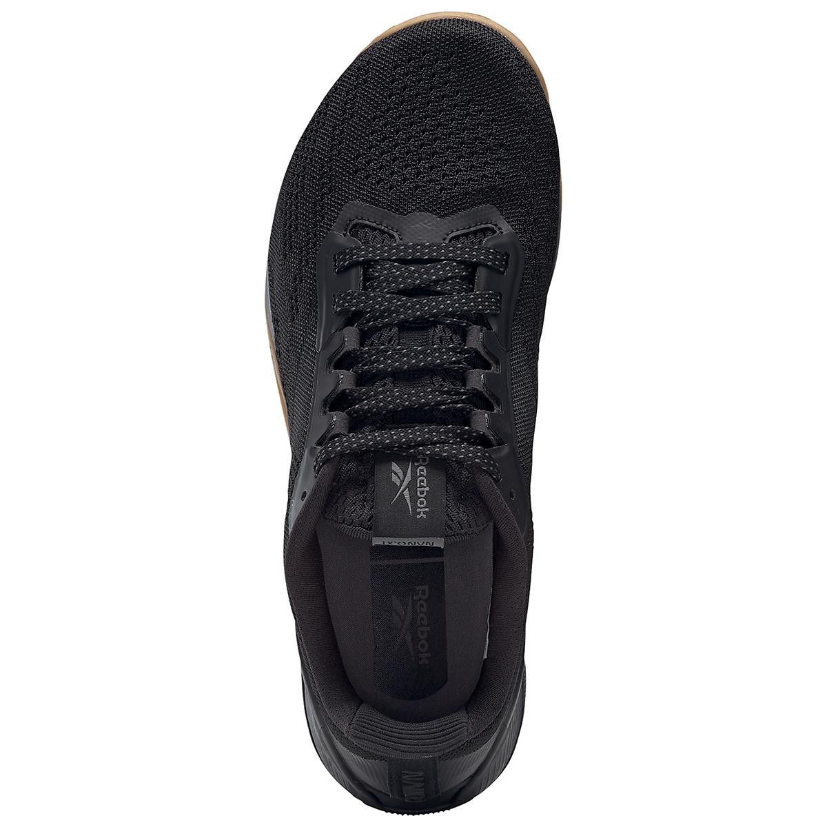 Men's Reebok Nano X1 Training Shoe - Color: Black/Night Black/Rubber Gum - Size: 6.5 - Width: Regular, Black/Night Black/Rubber Gum, large, image 7