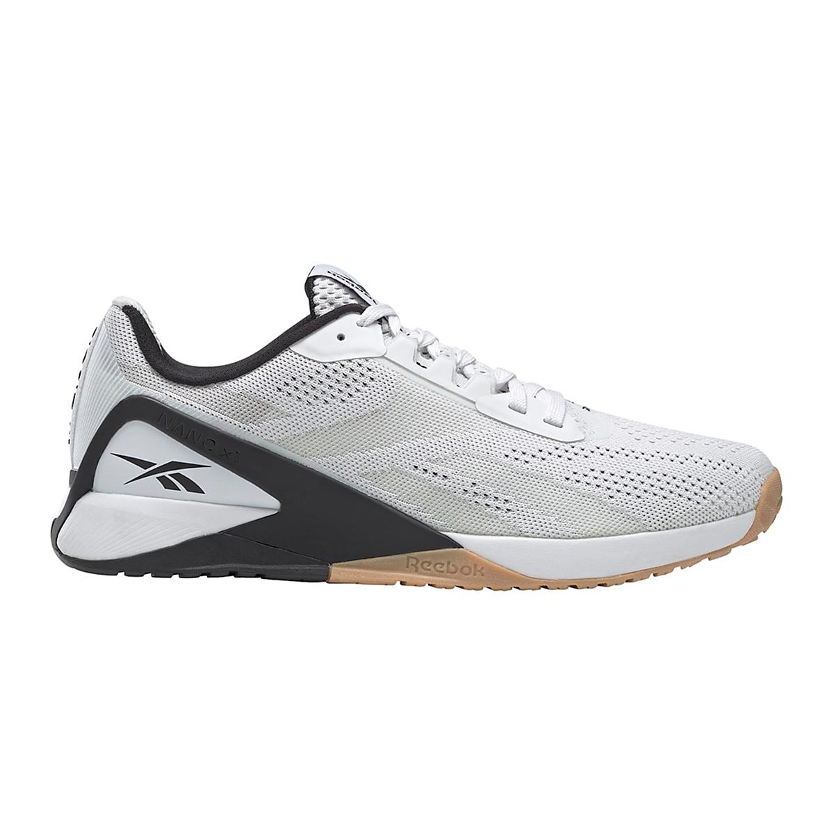 Men's Reebok Nano X1 Training Shoe - Color: White/Black/Reebok Rubber Gum - Size: 6 - Width: Regular, White/Black/Reebok Rubber Gum, large, image 1