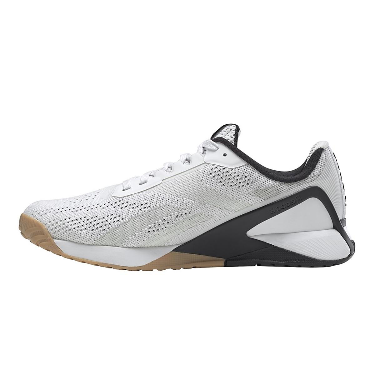 Men's Reebok Nano X1 Training Shoe - Color: White/Black/Reebok Rubber Gum - Size: 6 - Width: Regular, White/Black/Reebok Rubber Gum, large, image 2