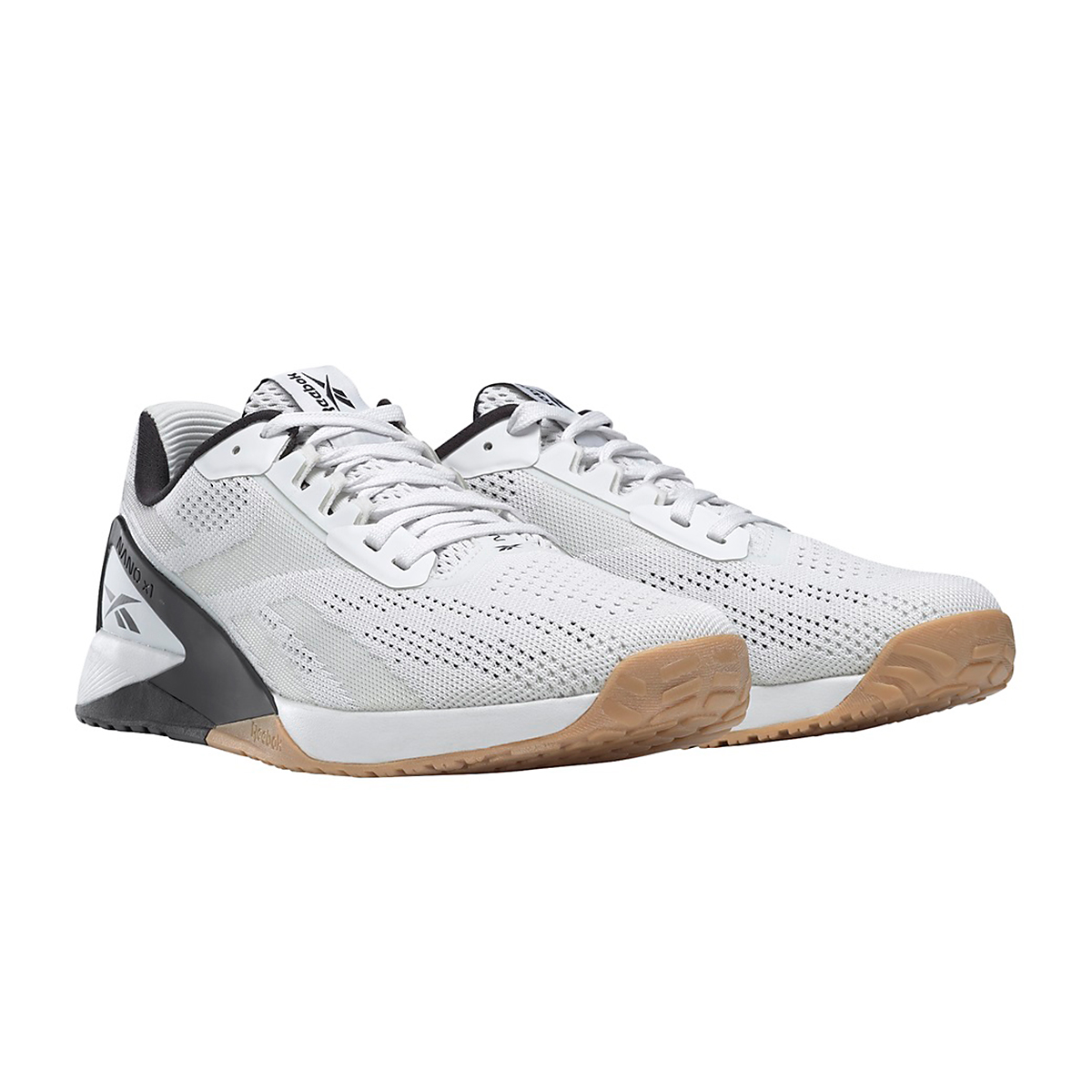 Men's Reebok Nano X1 Training Shoe - Color: White/Black/Reebok Rubber Gum - Size: 6 - Width: Regular, White/Black/Reebok Rubber Gum, large, image 3
