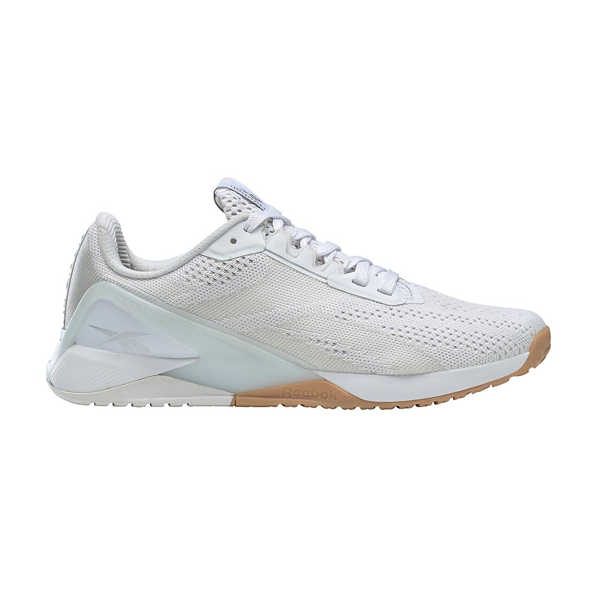 Women's Reebok Nano X1 Training Shoe - Color: White/True Grey/Rubber Gum - Size: 5 - Width: Regular, White/True Grey/Rubber Gum, large, image 1