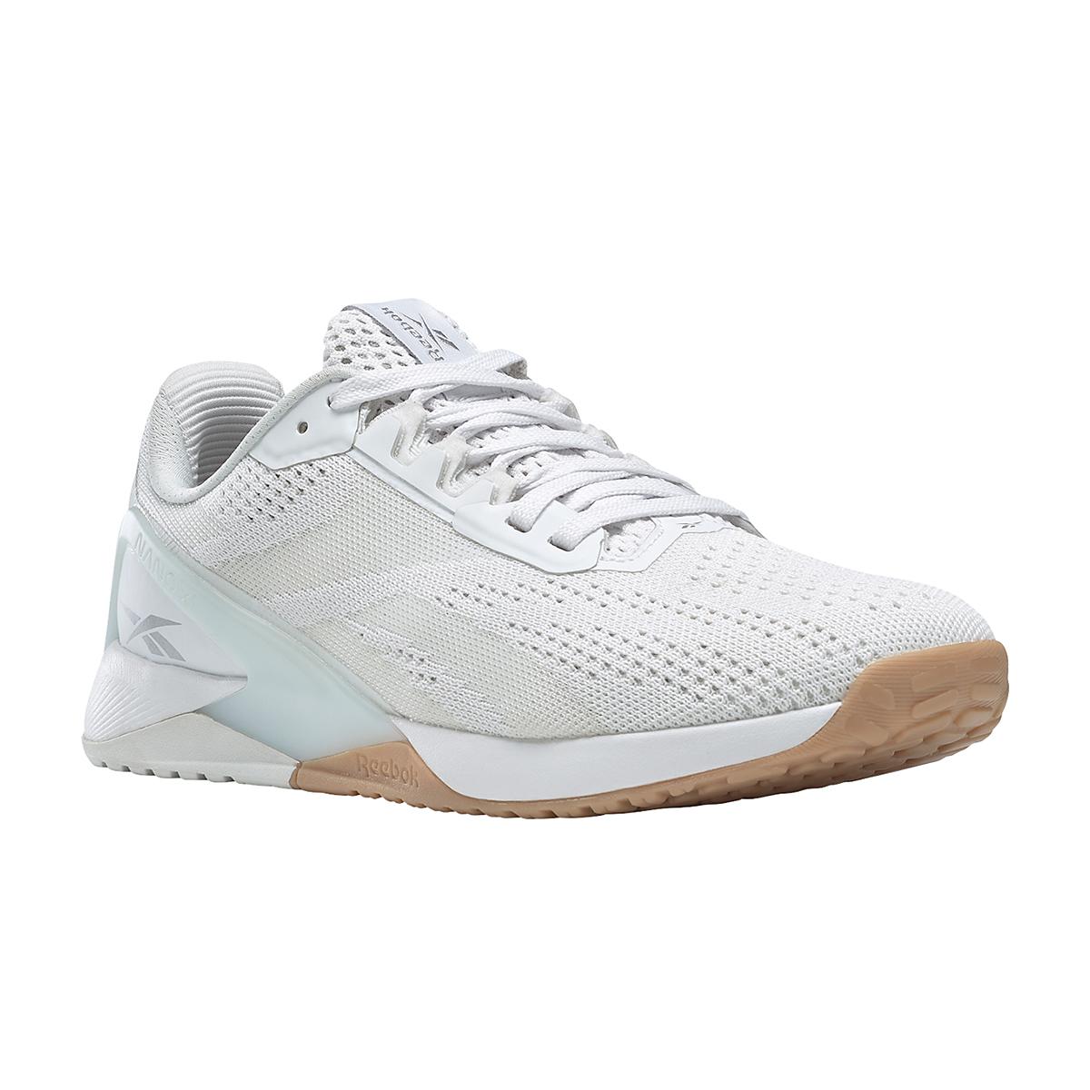 Women's Reebok Nano X1 Training Shoe - Color: White/True Grey/Rubber Gum - Size: 5 - Width: Regular, White/True Grey/Rubber Gum, large, image 2