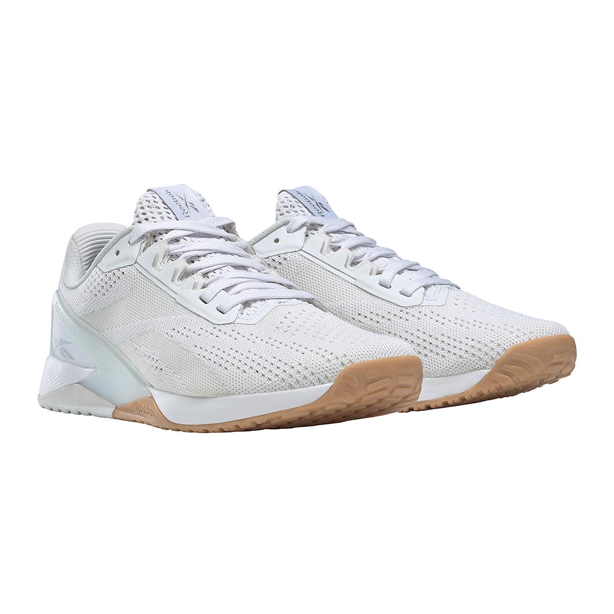 Women's Reebok Nano X1 Training Shoe - Color: White/True Grey/Rubber Gum - Size: 5 - Width: Regular, White/True Grey/Rubber Gum, large, image 3