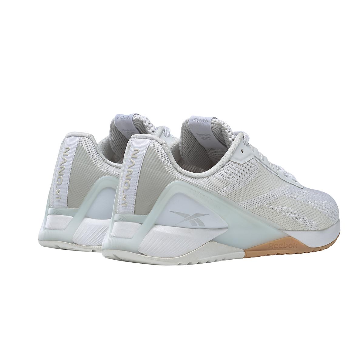 Women's Reebok Nano X1 Training Shoe - Color: White/True Grey/Rubber Gum - Size: 5 - Width: Regular, White/True Grey/Rubber Gum, large, image 4