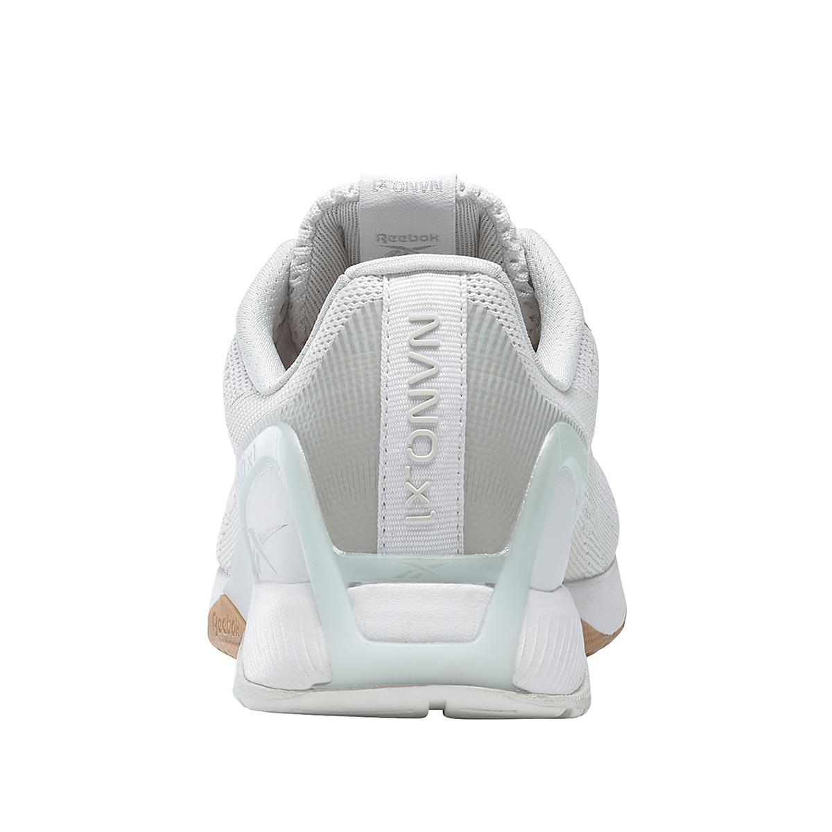 Women's Reebok Nano X1 Training Shoe - Color: White/True Grey/Rubber Gum - Size: 5 - Width: Regular, White/True Grey/Rubber Gum, large, image 6