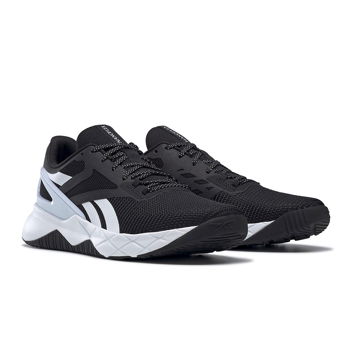 Men's Reebok Nanoflex TR Training Shoe - Color: Core Black/White/Core Black - Size: 6.5 - Width: Regular, Core Black/White/Core Black, large, image 3