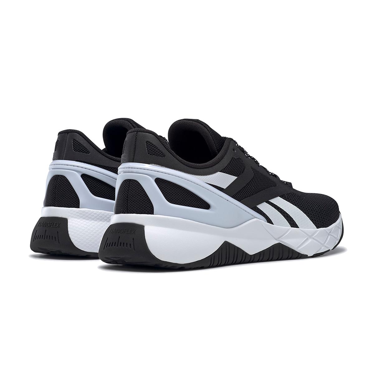 Men's Reebok Nanoflex TR Training Shoe - Color: Core Black/White/Core Black - Size: 6.5 - Width: Regular, Core Black/White/Core Black, large, image 4