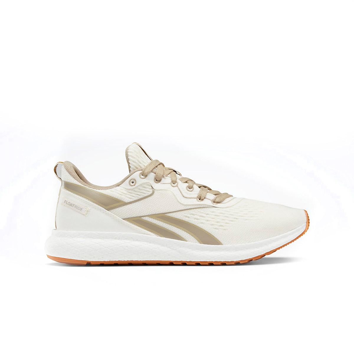 Women's Reebok Forever Floatride Grow Running Shoe - Color: Classic White/Straw/Super Neutral - Size: 5 - Width: Regular, Classic White/Straw/Super Neutral, large, image 1