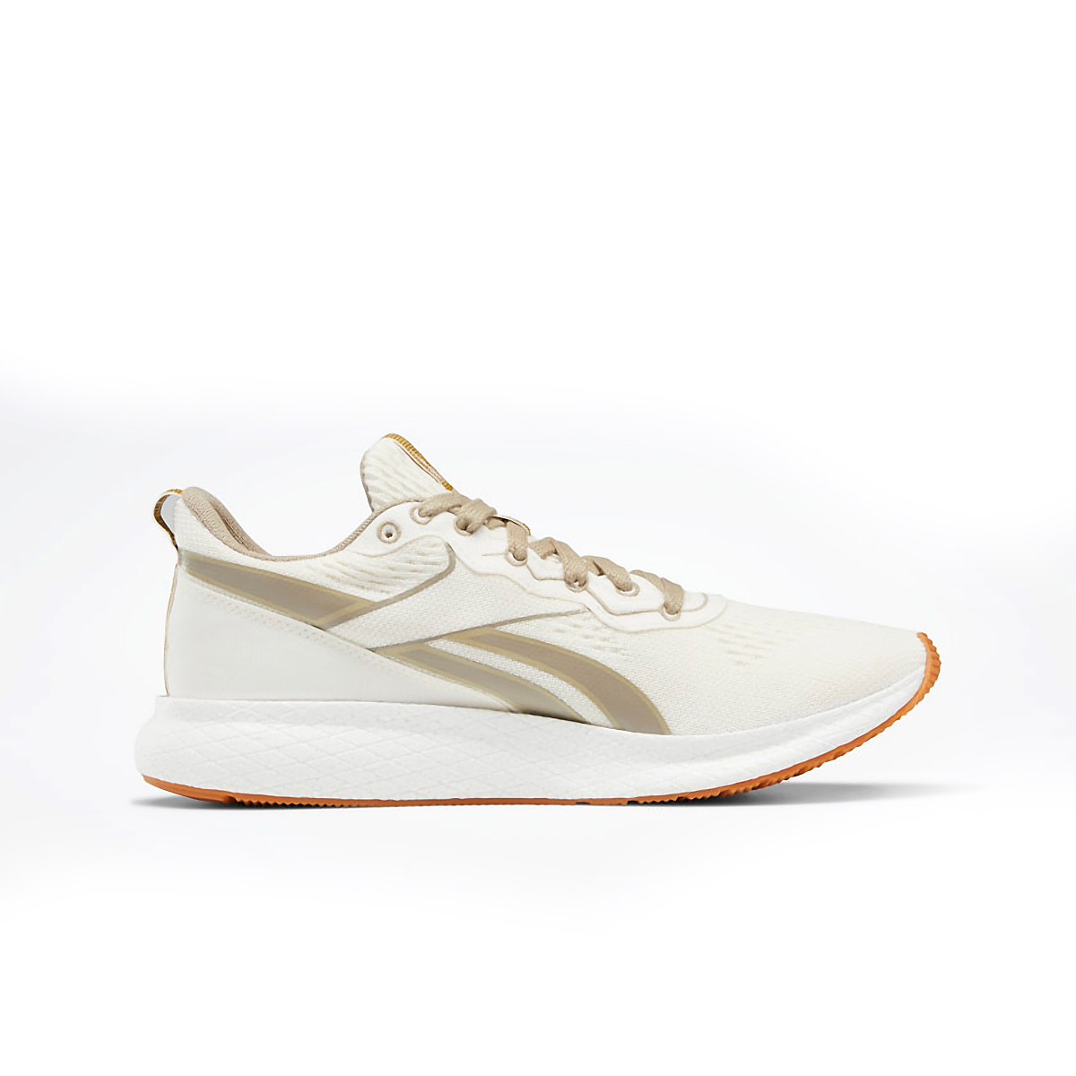 Women's Reebok Forever Floatride Grow Running Shoe - Color: Classic White/Straw/Super Neutral - Size: 5 - Width: Regular, Classic White/Straw/Super Neutral, large, image 2