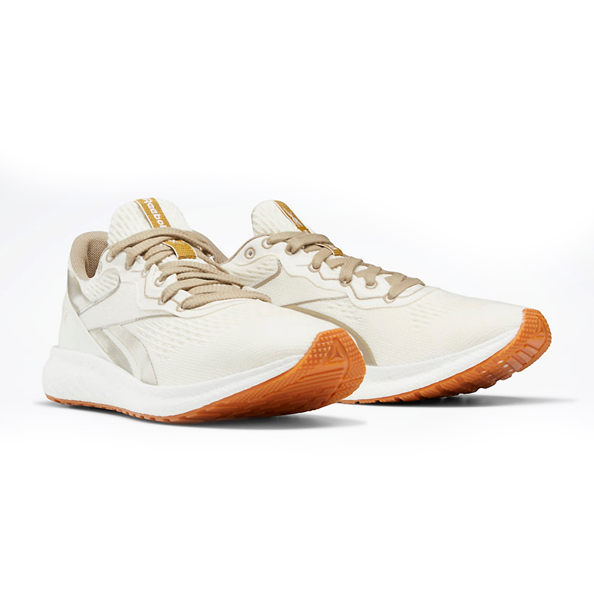 Women's Reebok Forever Floatride Grow Running Shoe - Color: Classic White/Straw/Super Neutral - Size: 5 - Width: Regular, Classic White/Straw/Super Neutral, large, image 3
