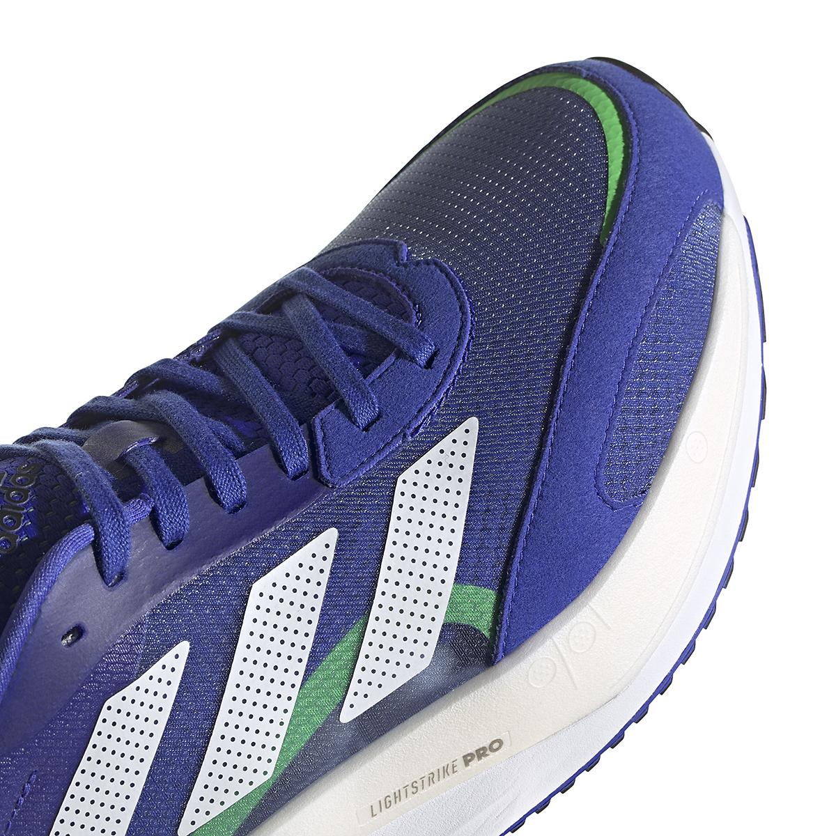 Men's Adidas Adizero Boston 10 Running Shoe - Color: Sonic Ink/White/Screaming Green - Size: 6.5 - Width: Regular, Sonic Ink/White/Screaming Green, large, image 4