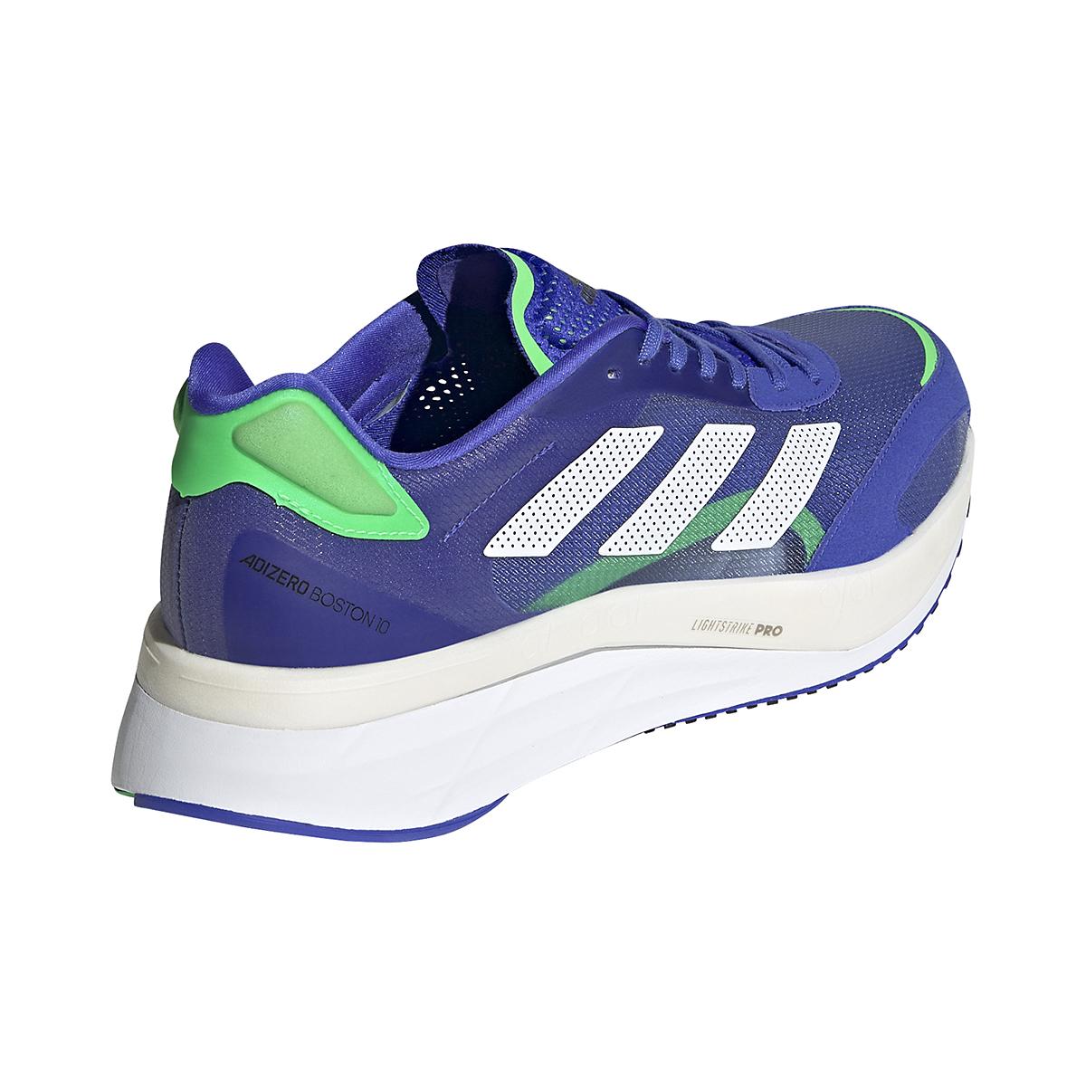 Men's Adidas Adizero Boston 10 Running Shoe - Color: Sonic Ink/White/Screaming Green - Size: 6.5 - Width: Regular, Sonic Ink/White/Screaming Green, large, image 6