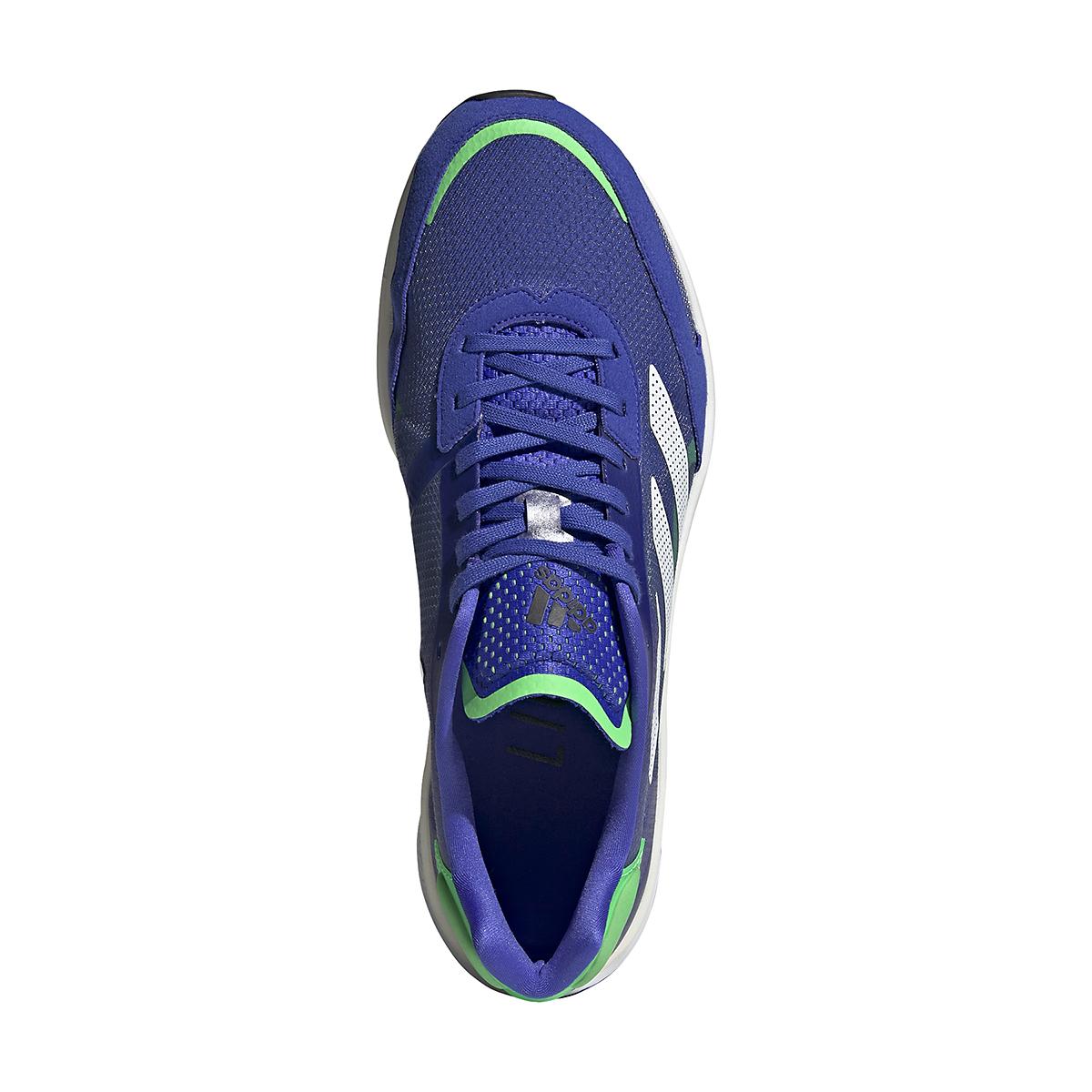 Men's Adidas Adizero Boston 10 Running Shoe - Color: Sonic Ink/White/Screaming Green - Size: 6.5 - Width: Regular, Sonic Ink/White/Screaming Green, large, image 7