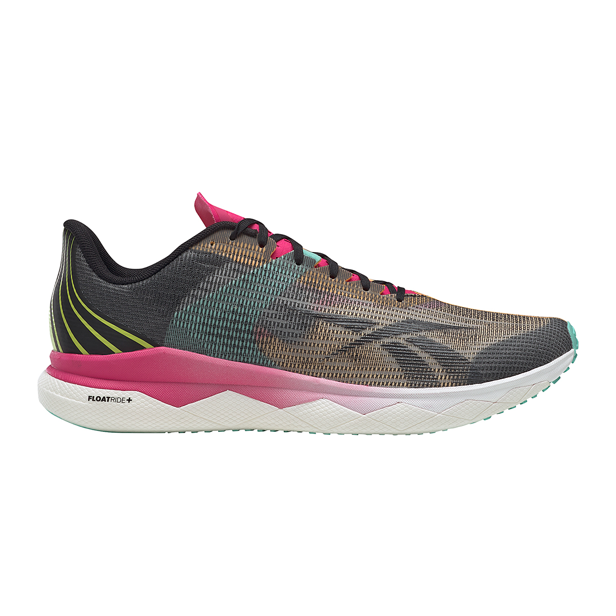 Men's Reebok Floatride Run Fast 3.0 Running Shoe - Color: Black/Purple Pink - Size: 7 - Width: Regular, Black/Purple Pink, large, image 1