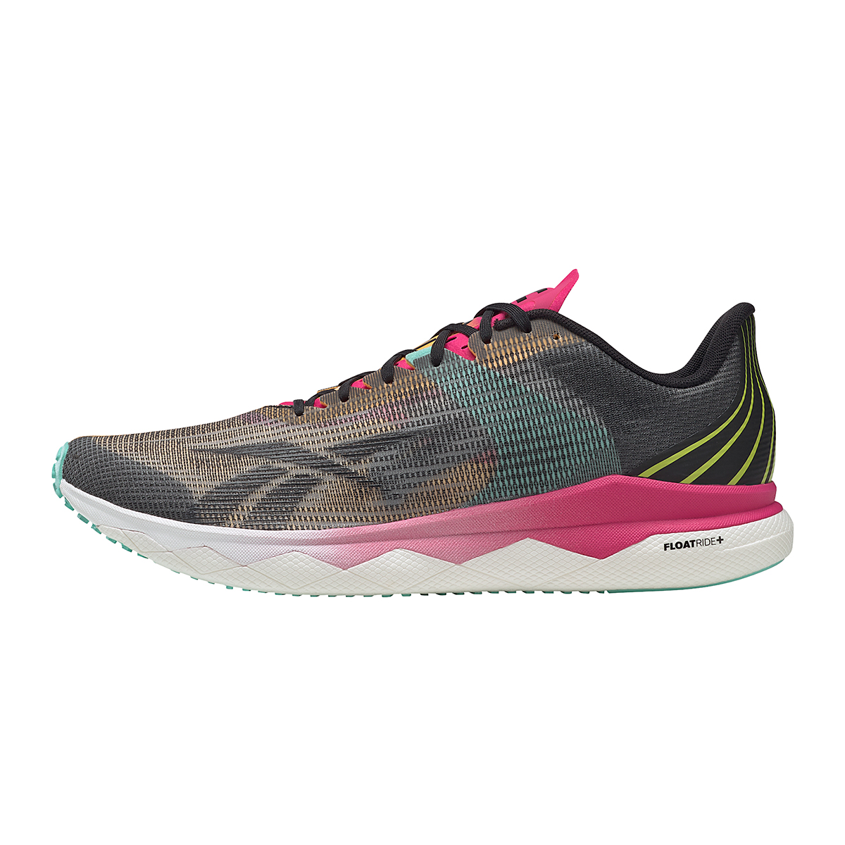 Men's Reebok Floatride Run Fast 3.0 Running Shoe - Color: Black/Purple Pink - Size: 7 - Width: Regular, Black/Purple Pink, large, image 2