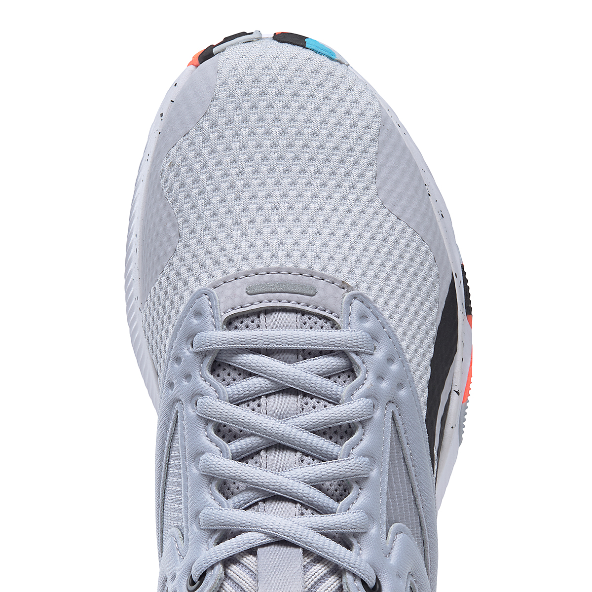 Women's Reebok HIIT TR Training Shoes - Color: Cold Grey 2/Orange Flare /Radiant Aqua - Size: 5 - Width: Regular, Cold Grey 2/Orange Flare /Radiant Aqua, large, image 4