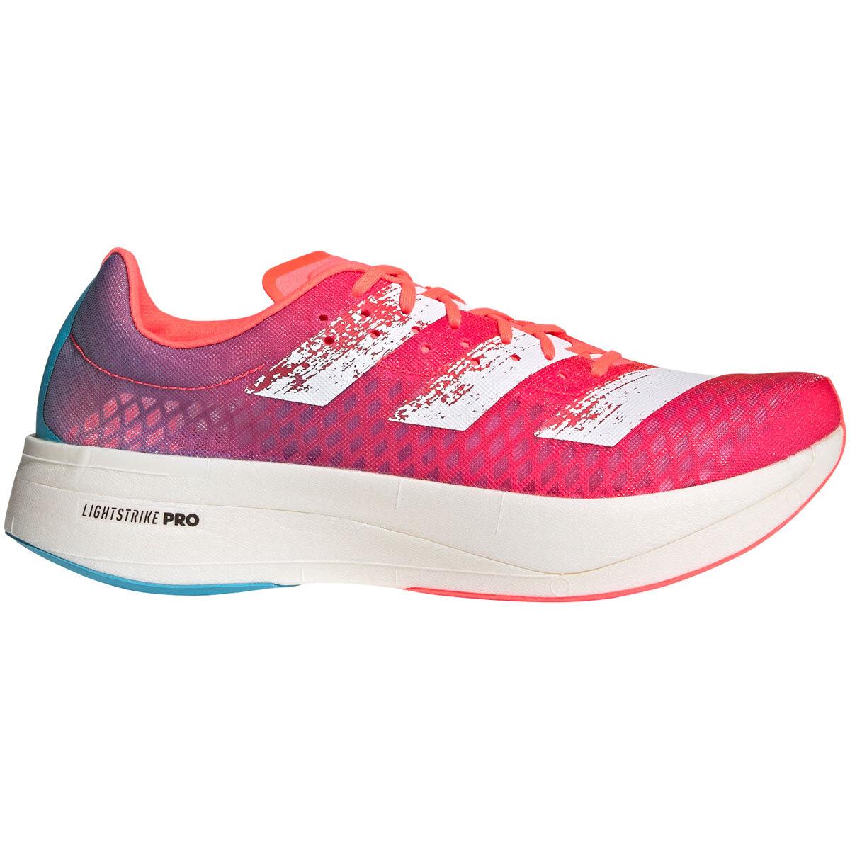 Adidas Adizero Adios Pro Running Shoe - Color: Signal Pink/Cloud White/Shock Pink - Size: M4/W5.5 - Width: Regular, Signal Pink/Cloud White/Shock Pink, large, image 1