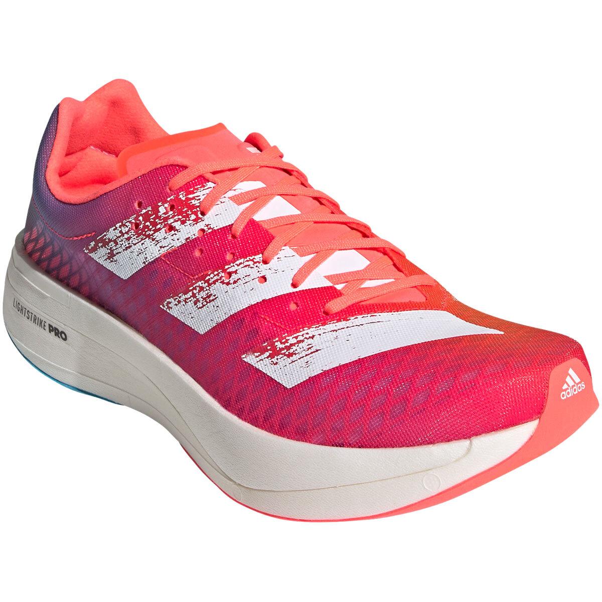 Adidas Adizero Adios Pro Running Shoe - Color: Signal Pink/Cloud White/Shock Pink - Size: M4/W5.5 - Width: Regular, Signal Pink/Cloud White/Shock Pink, large, image 2