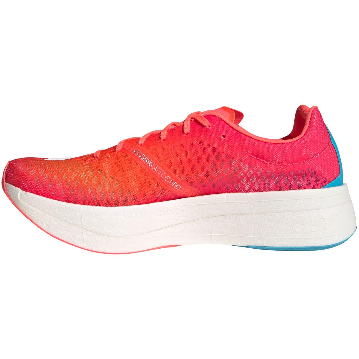 Adidas Adizero Adios Pro Running Shoe - Color: Signal Pink/Cloud White/Shock Pink - Size: M4/W5.5 - Width: Regular, Signal Pink/Cloud White/Shock Pink, large, image 3