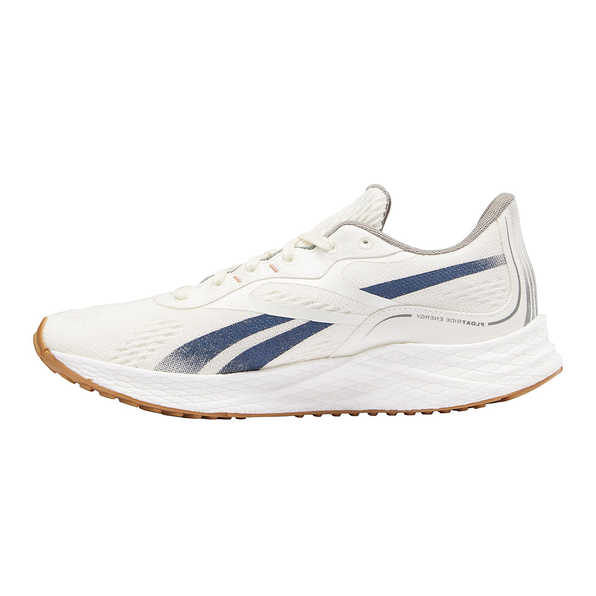 Men's Reebok Floatride Energy Grow Running Shoe - Color: Classic White/Brave Blue/Boulder Grey - Size: 7 - Width: Regular, Classic White/Brave Blue/Boulder Grey, large, image 2