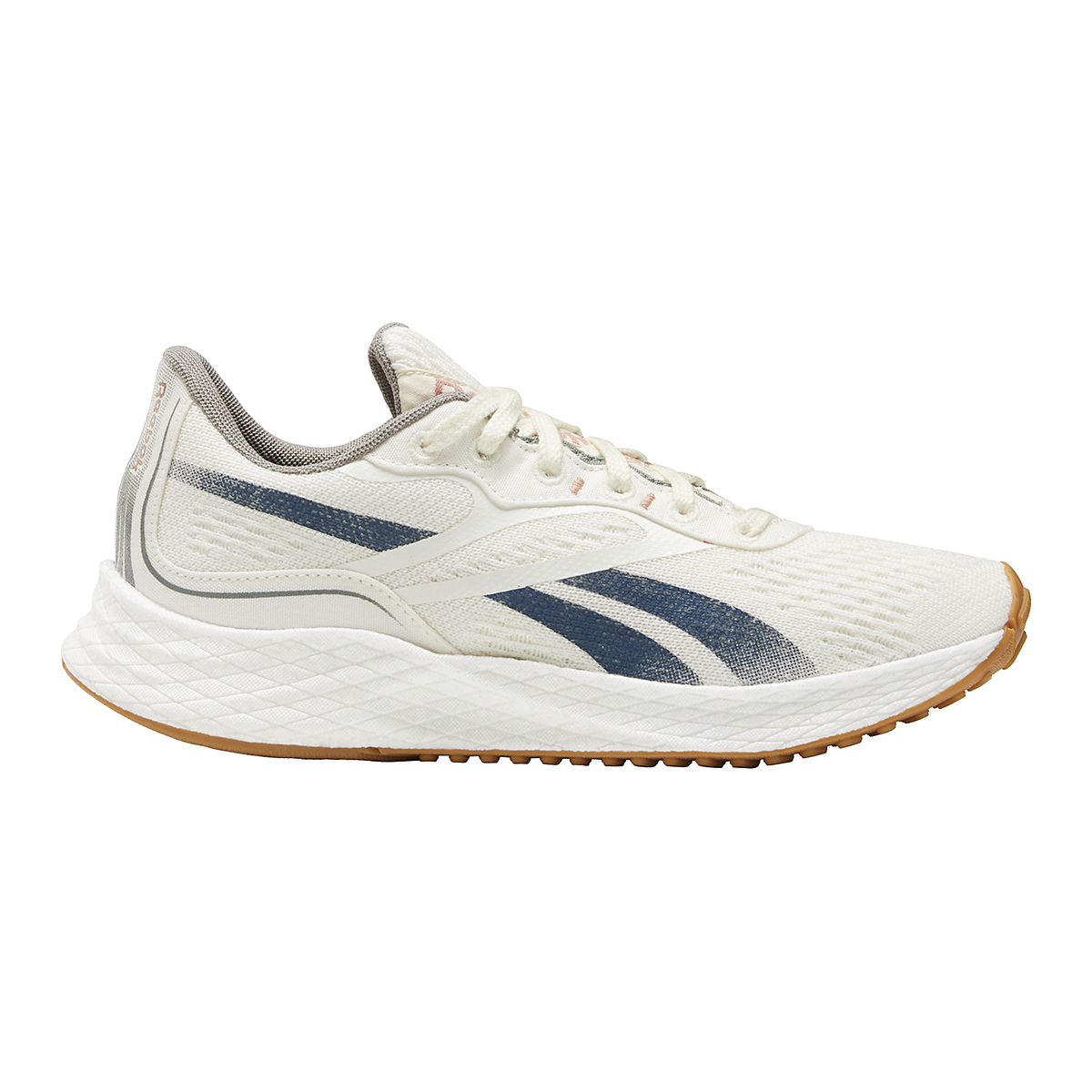 Women's Reebok Floatride Energy Grow Running Shoe - Color: Classic White/Brave Blue/Boulder Grey - Size: 5 - Width: Regular, Classic White/Brave Blue/Boulder Grey, large, image 1