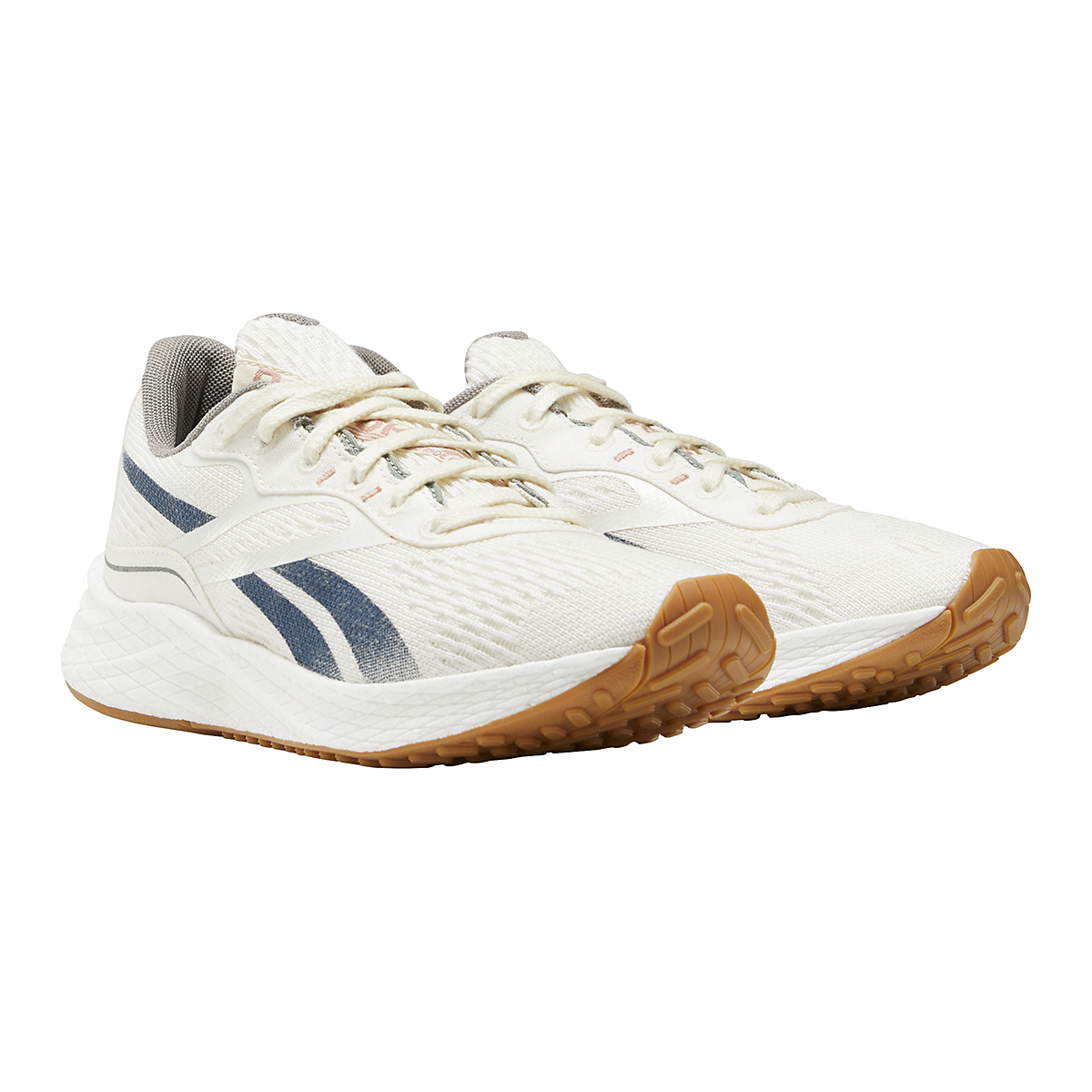 Women's Reebok Floatride Energy Grow Running Shoe - Color: Classic White/Brave Blue/Boulder Grey - Size: 5 - Width: Regular, Classic White/Brave Blue/Boulder Grey, large, image 3