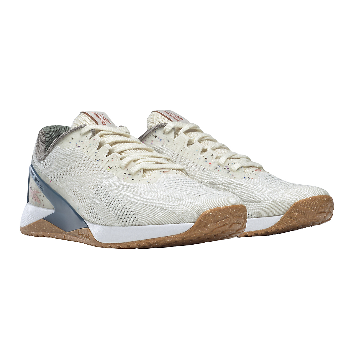 Women's Reebok Nano X1 Vegan Training Shoe - Color: Classic White/Harmony Green/Brave Blue - Size: 5 - Width: Regular, Classic White/Harmony Green/Brave Blue, large, image 3